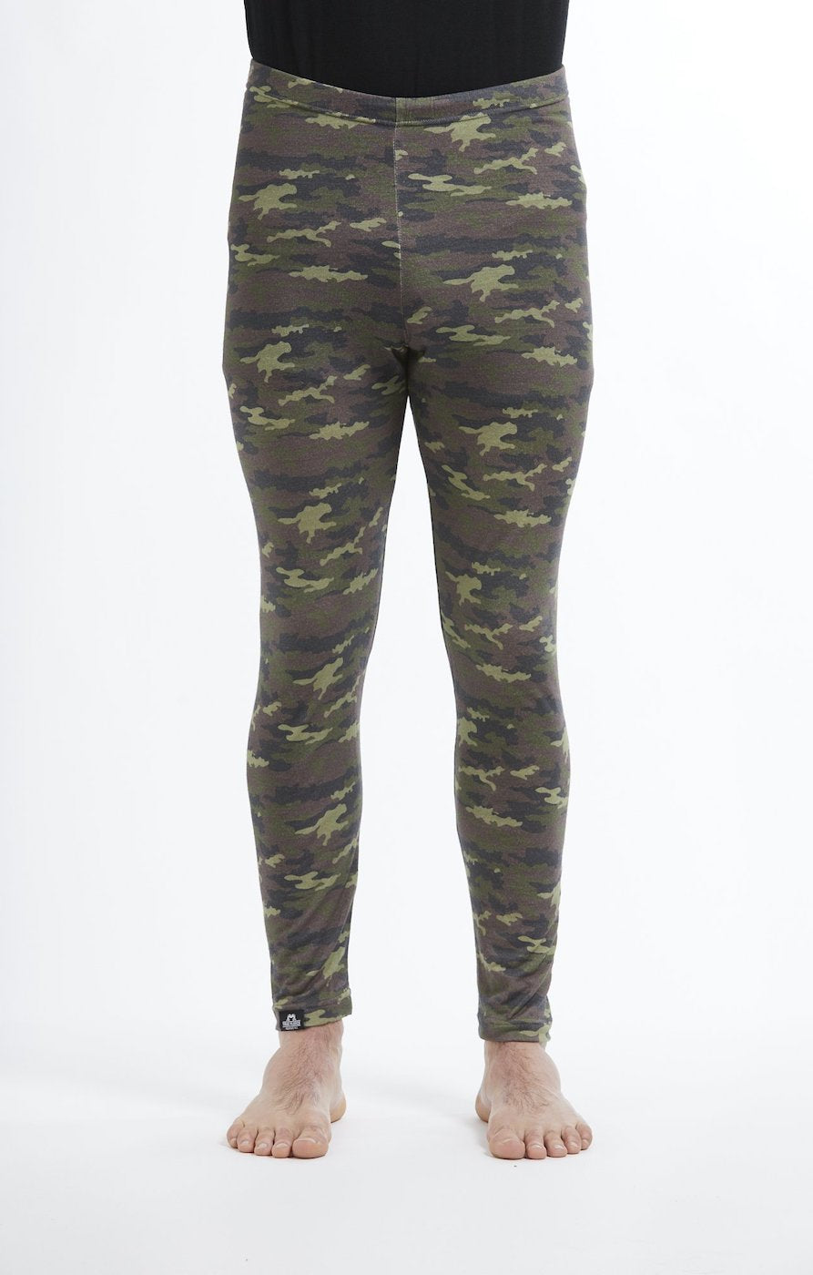 Base Layer Leggings | Green Camo | True Fleece New Zealand