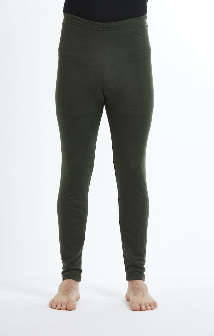 Base Layer Leggings | Olive | True Fleece New Zealand