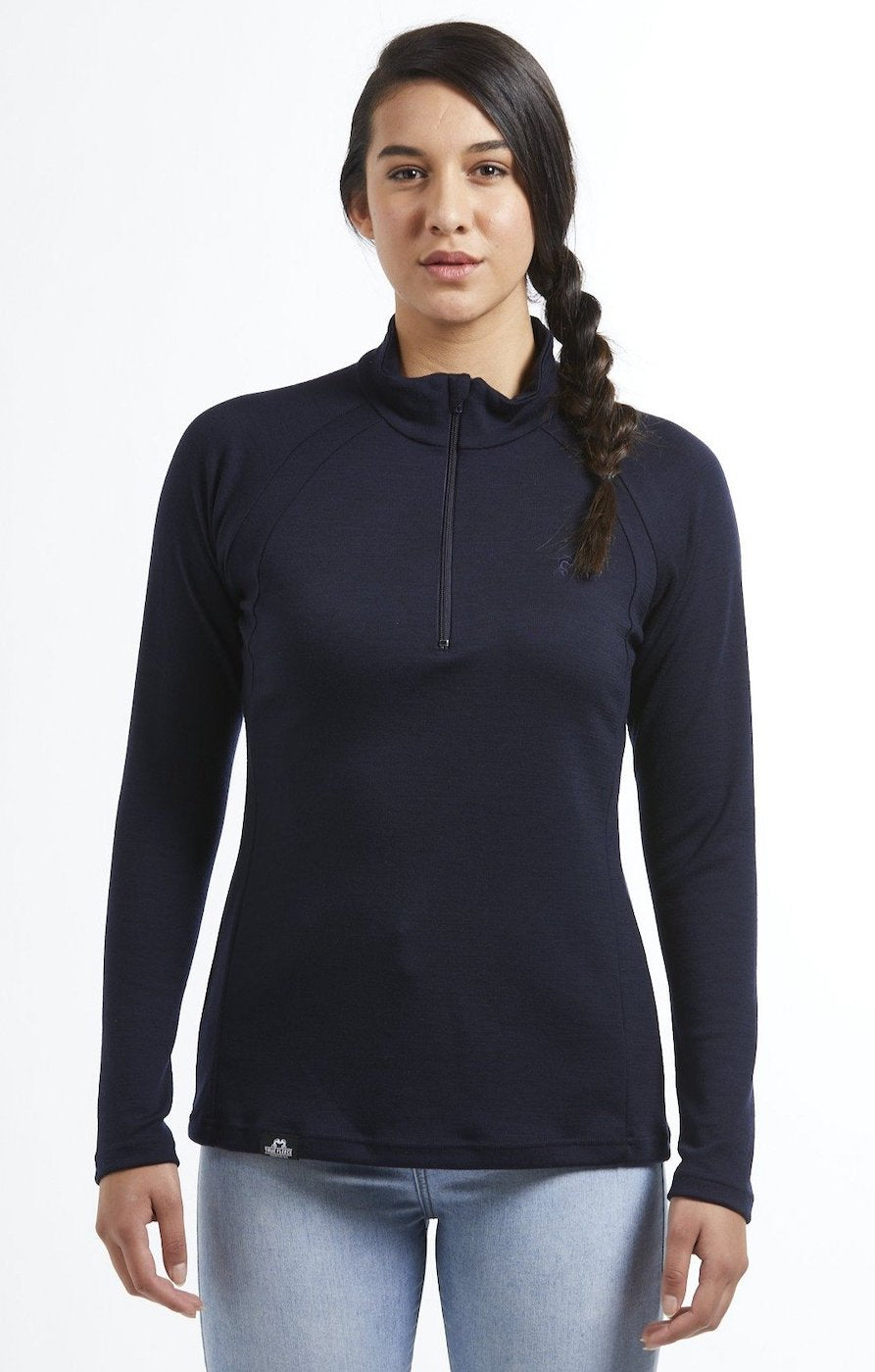 Hilltop Quarter Zip Jersey | Navy | True Fleece New Zealand