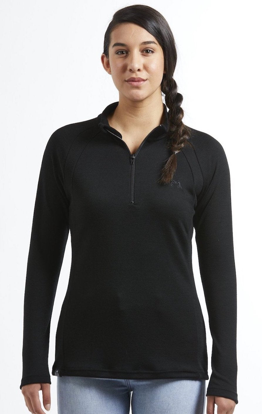 Hilltop Quarter Zip Jersey | Black | True Fleece New Zealand