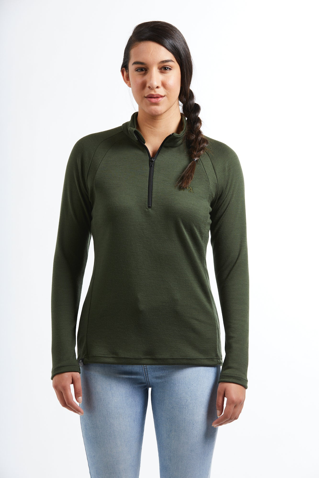 Hilltop Quarter Zip Jersey | Olive | True Fleece New Zealand