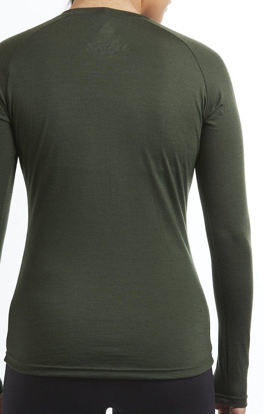 Womens merino wool thermal long sleeve base layer