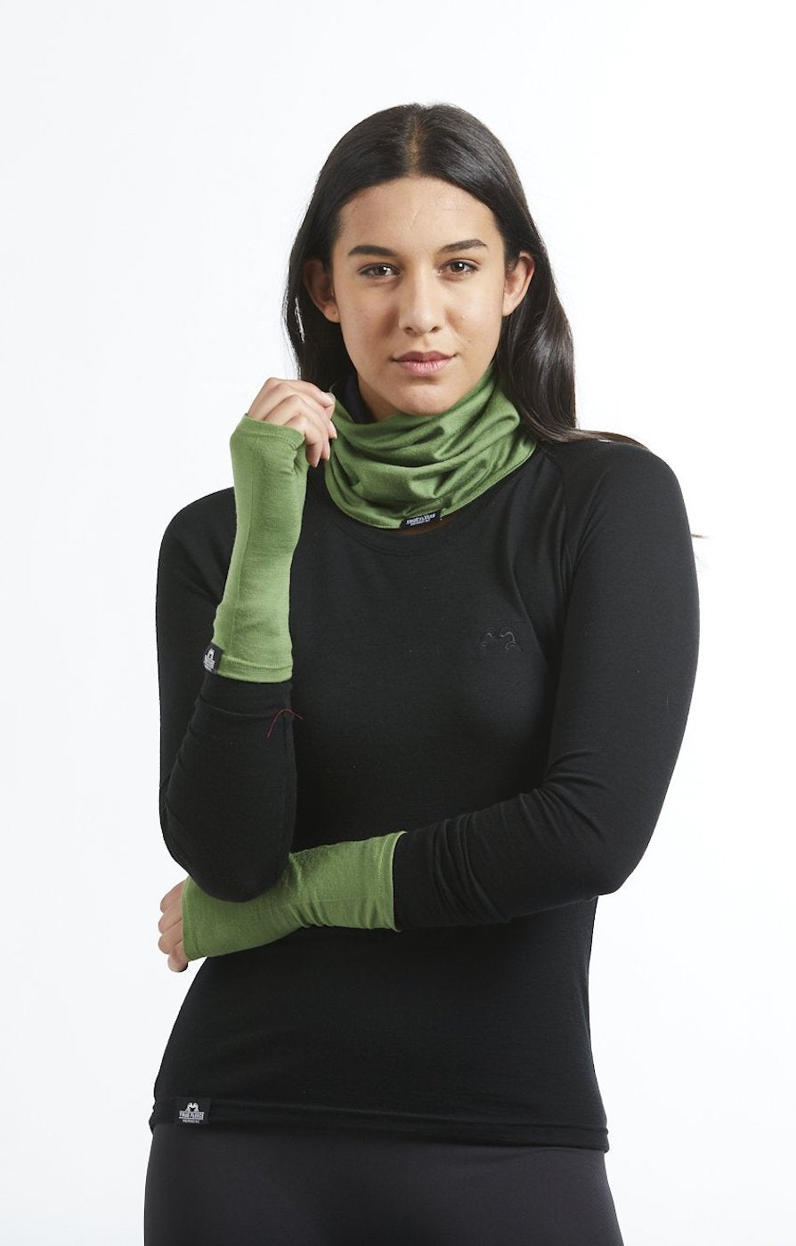 Womens merino wool hand warmer gloves