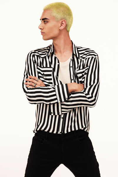 WESTERN SILK STRIPES SHIRT