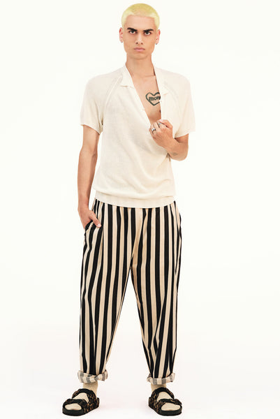BAGGY STRIPES TROUSERS