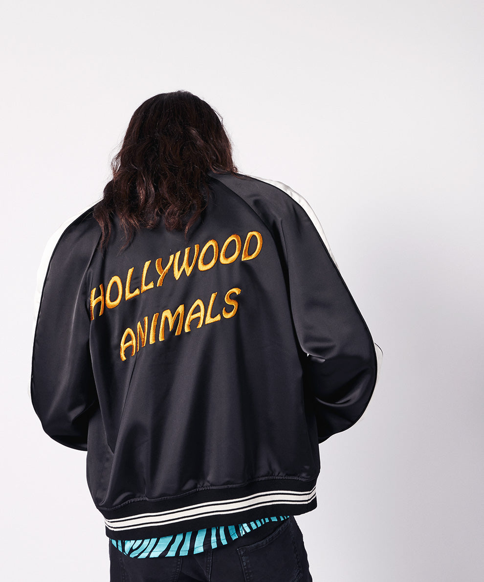 EMBROIDERY BICOLOR  BOMBER JACKET