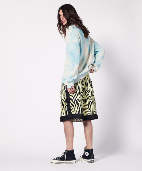 SHORT SILK ANIMALIER PRINT