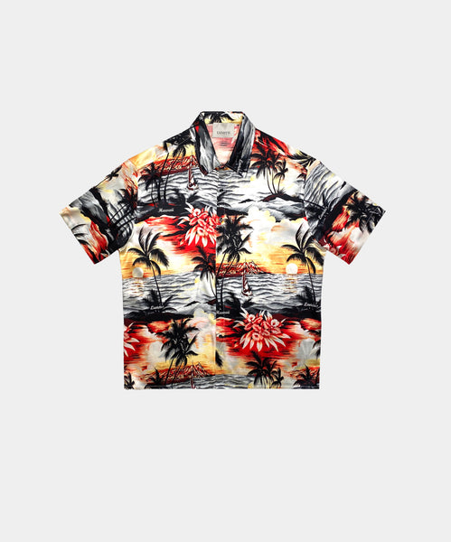 SILK  SHIRT SHORT SLEEVES HAWAIAN PRINT