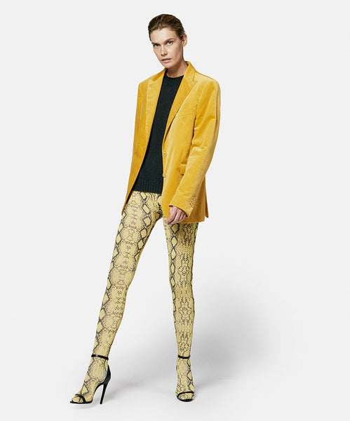 Velvet Jacket Yellow
