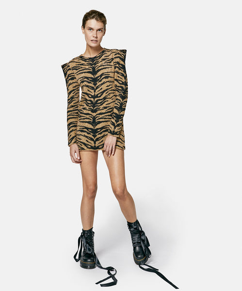 Tiger Lurex Dress