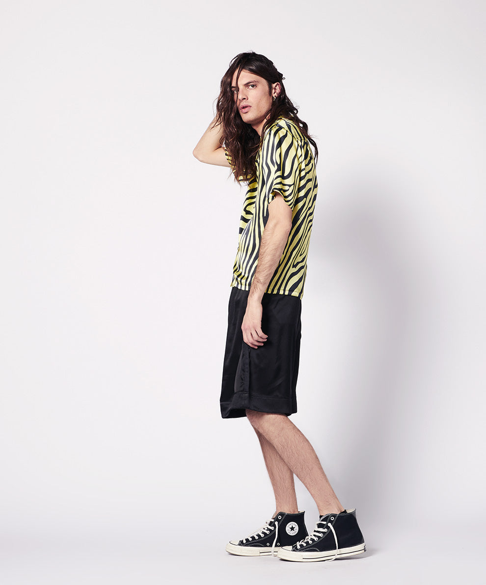 SILK  SHIRT SHORT SLEEVES ANIMALIER PRINT