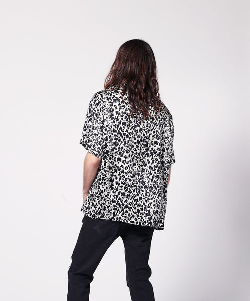 SILK SHIRT SHORT SLEEVE ANIMALIER PRINT