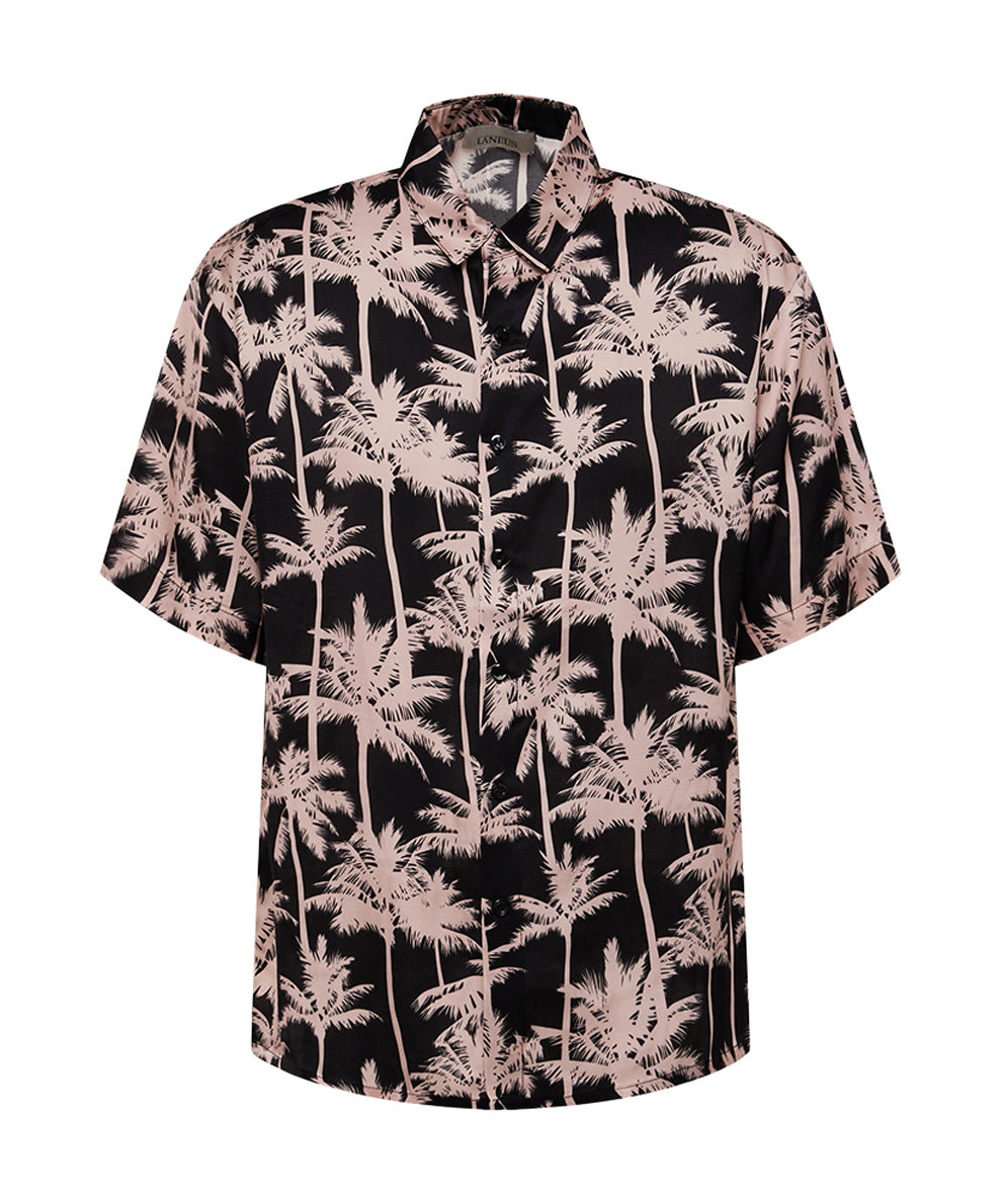 SHORT SLEEVE SHIRT WITH PALMS PRINT