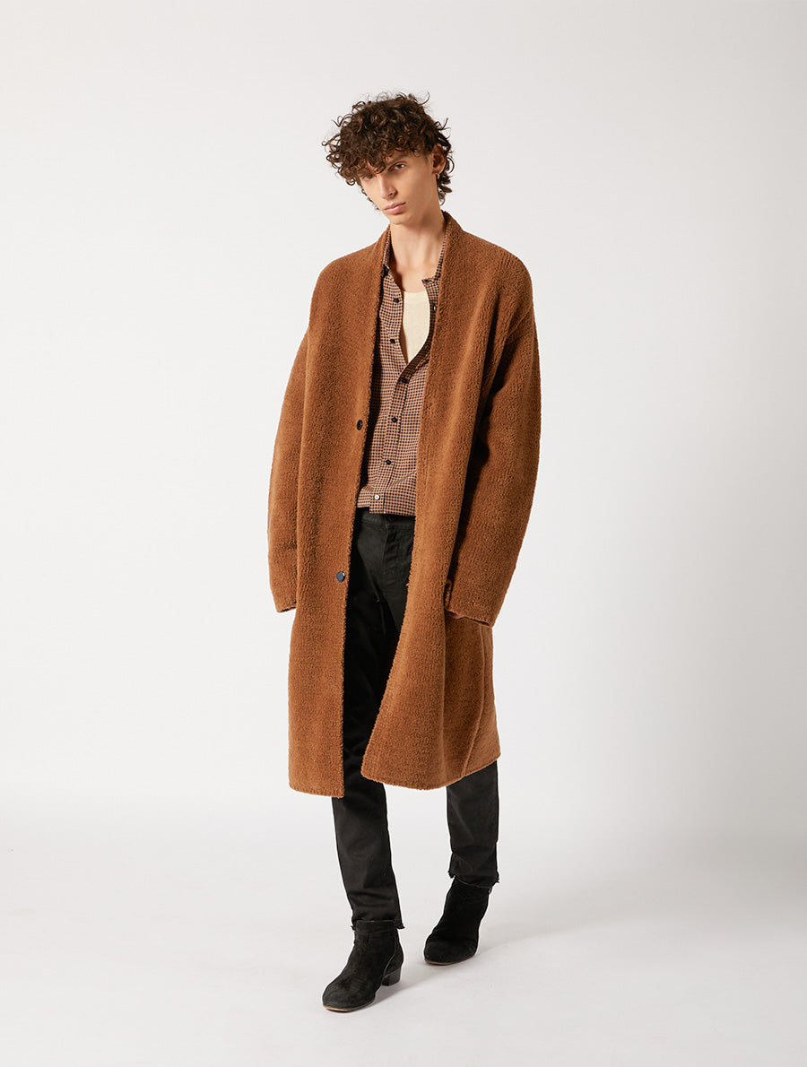 FUR KNITWEAR COAT RELAXED FIT