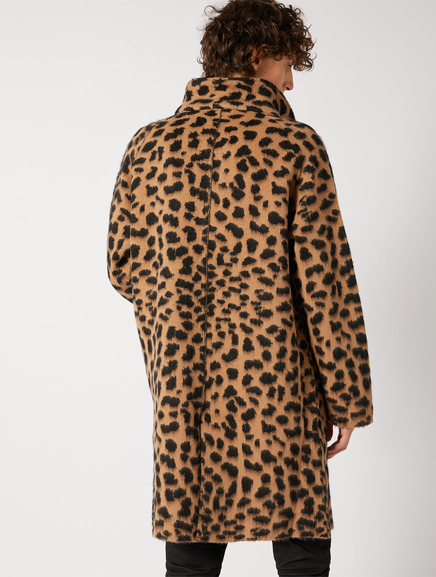 ANIMALIER COAT JACQUARD REGULAR FIT