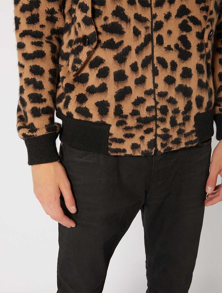 ANIMALIER JACQUARD BARRACUDA JACKET REGULAR FIT