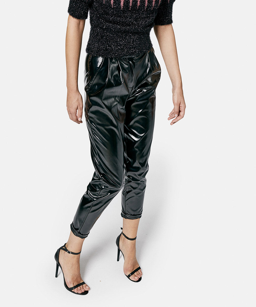High Waist Trousers Black