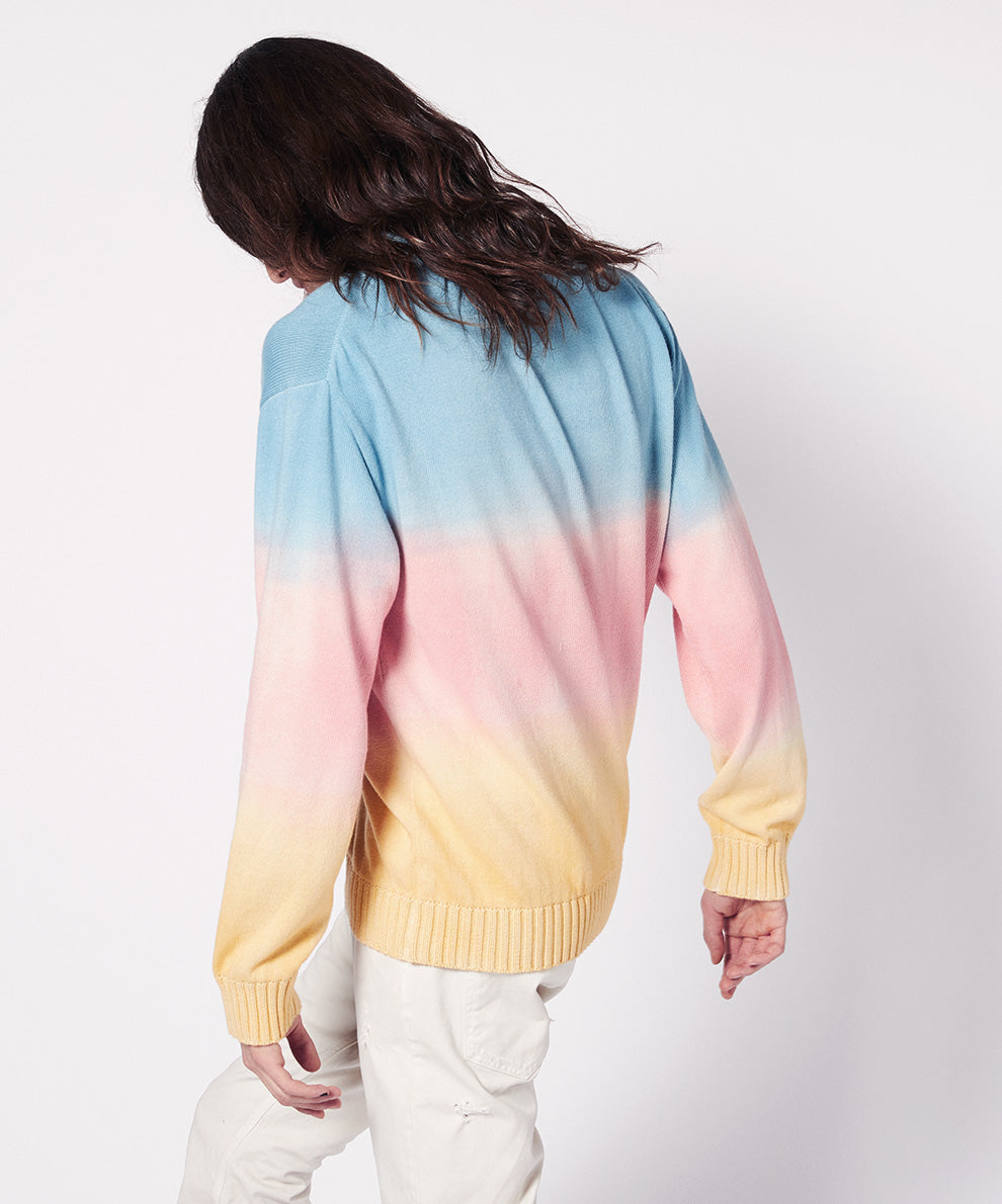 CREWNECK JACQUARD WITH RAINBOW PRINT