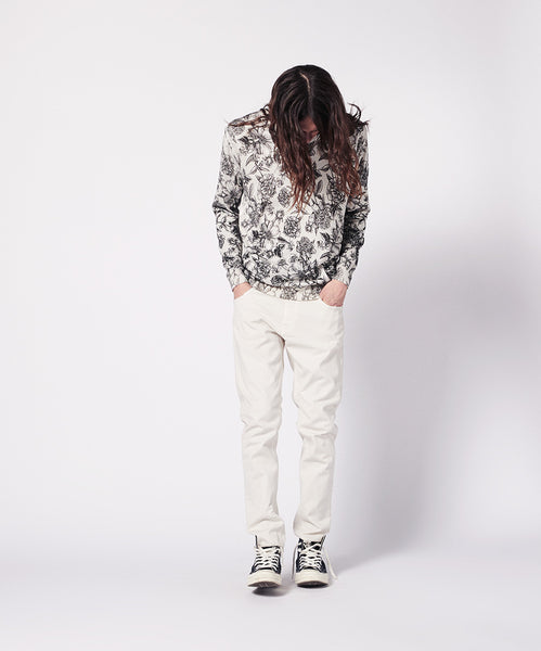CREWNECK ALLOVER FLOWER PRINT