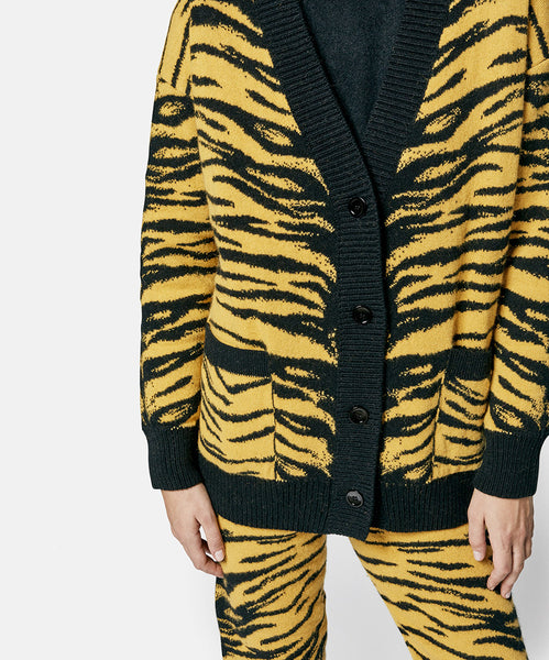 Tiger Cardigan Yellow