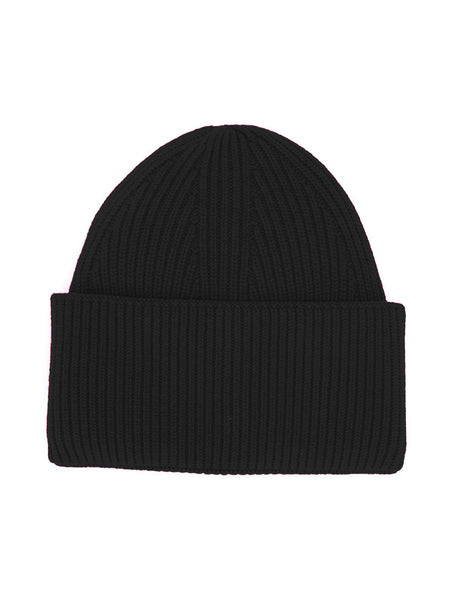 RIBBED KNIT CASHMERE BEANIE