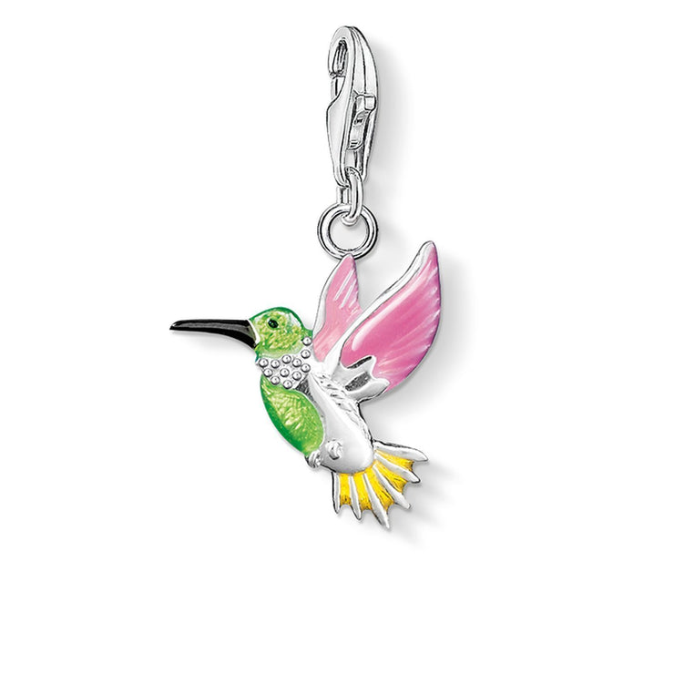 Thomas Sabo Colourful Hummingbird Charm Pendant