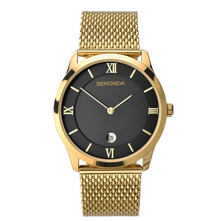 Sekonda Men's Gold Plated Milanese Dress Watch