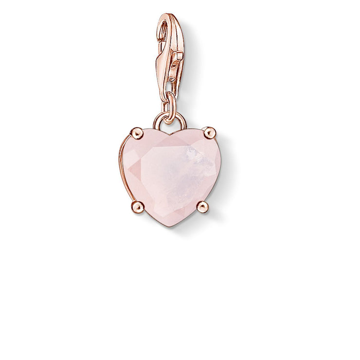 "Thomas Sabo Charm Pendant ""Heart With Hot Pink Stone"""