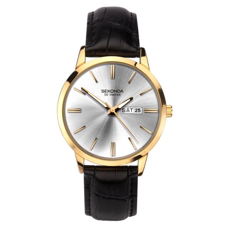 Sekonda Men's Classic Leather Strap Watch