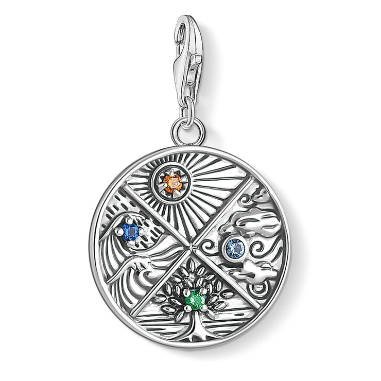 Thomas Sabo Charm Pendant 4 Elements: Earth, Water, Air, Fire