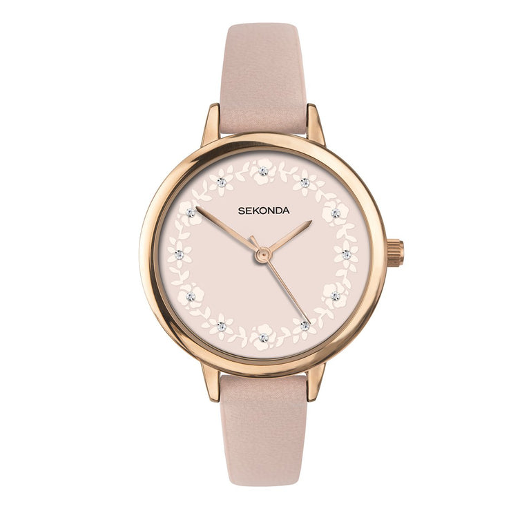 Sekonda Editions Women's Peach Strap Watch