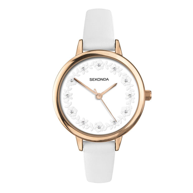 Sekonda Editions Women's White Strap Watch