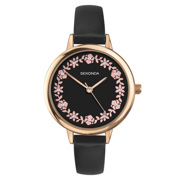 Sekonda Editions Women's Black Strap Watch
