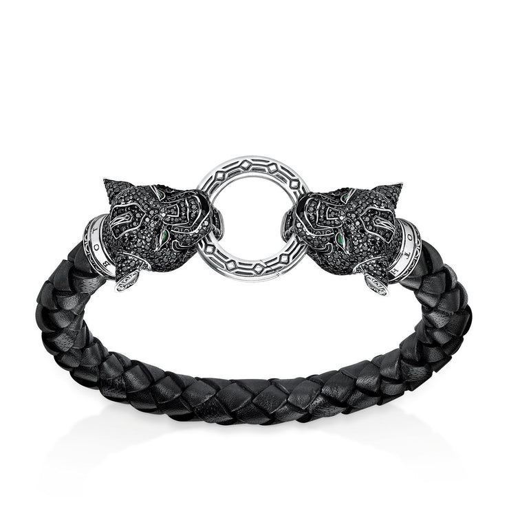 "Thomas Sabo Leather Strap ""Black Cat"""