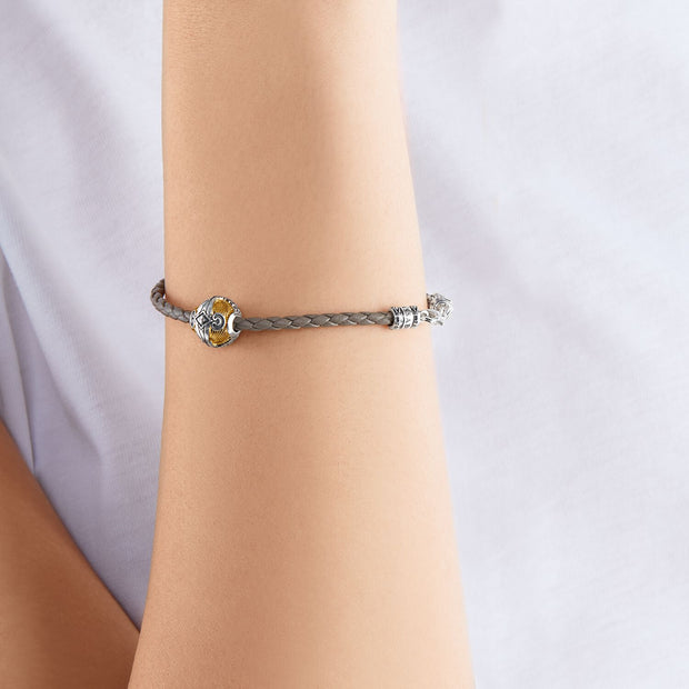 Thomas Sabo Leather Bracelet Tree Of Love | The Jewellery Boutique