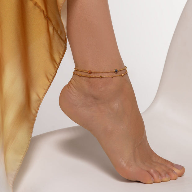 Thomas Sabo Ankle Chain Dots Gold