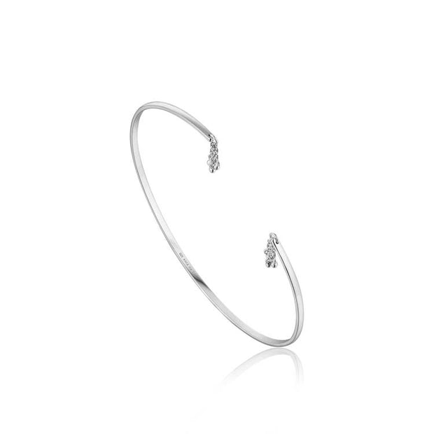 Ania Haie Tassel Drop Bangle - Silver