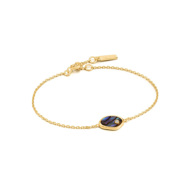 Ania Haie Gold Tidal Abalone Bracelet | The Jewellery Boutique
