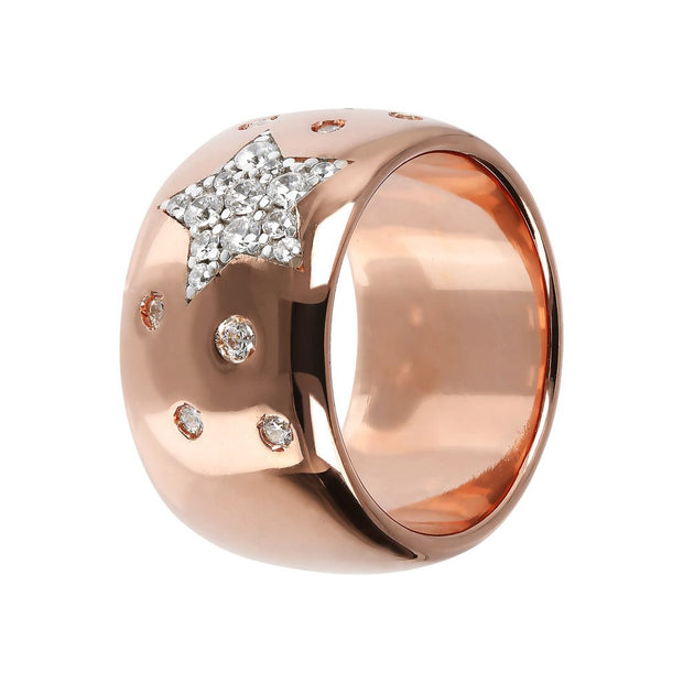 Bronzallure Band Ring with Star Cubic Zirconia