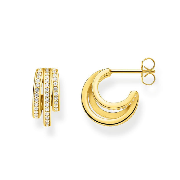 Thomas Sabo Hoop Earrings Gold Rings
