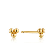Ania Haie Modern Triple Ball Stud Earrings - Gold