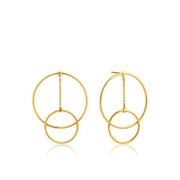 Ania Haie Modern Front Hoop Earrings - Gold