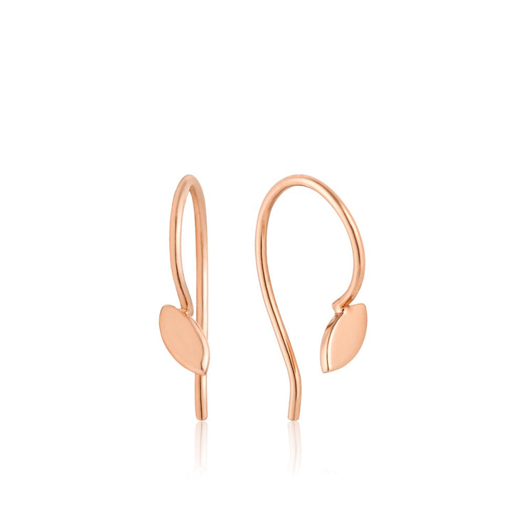 Ania Haie Hook Earrings - Rose Gold