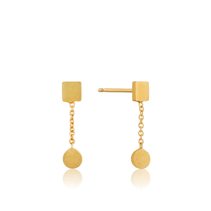 Ania Haie Two Shape Drop Earrings - Gold