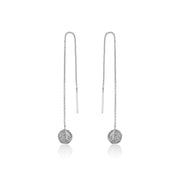 Ania Haie Deus Threader Earrings - Silver