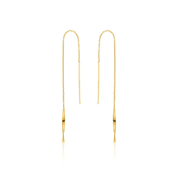 Ania Haie Helix Threader Earrings - Gold