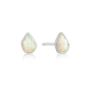 Ania Haie Opal Colour Stud Earrings - Silver