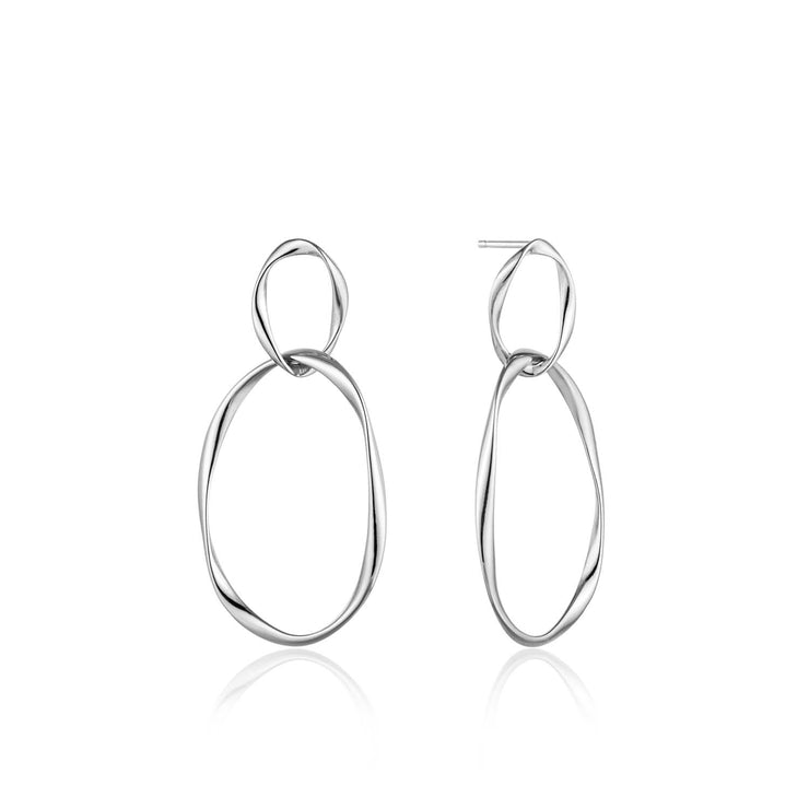 Ania Haie Swirl Nexus Earrings - Silver