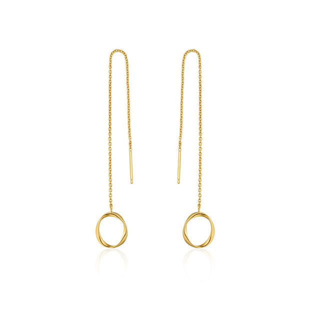 Ania Haie Swirl Threader Earrings - Gold