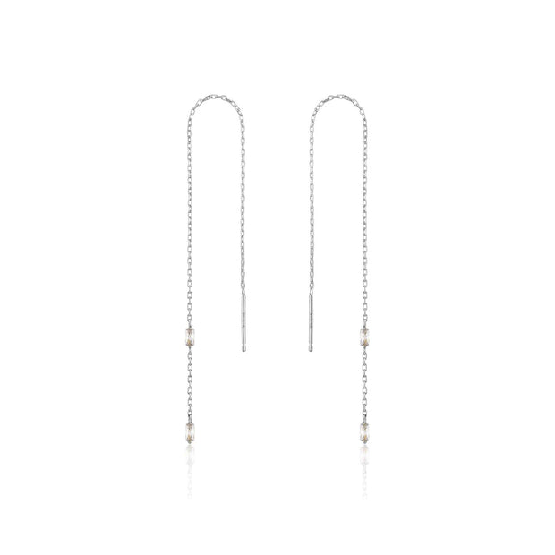 Ania Haie Glow Threader Earrings - Silver